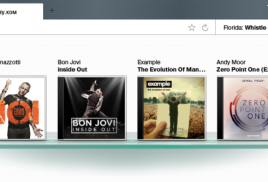 Музыкальный браузер со звуком .